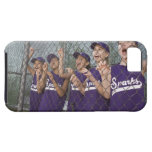 Little league team cheering in dugout iPhone SE/5/5s case