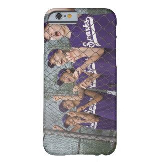 Little league team cheering in dugout iPhone 6 case