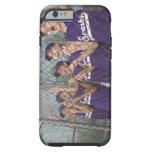 Little league team cheering in dugout tough iPhone 6 case