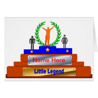 Little Legend Award. Customize with Name Card
