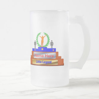 Little Legend Award. Customize with Name Frosted Glass Beer Mug