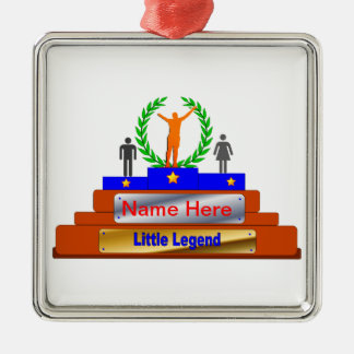 Little Legend Award. Customize with Name Metal Ornament