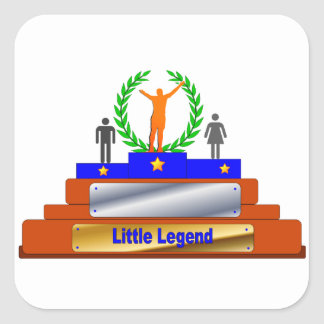 Little Legend Award. Customize with Name Square Sticker