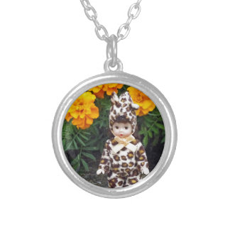 Little Leopard Girl Silver Plated Necklace