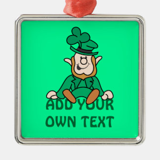 Little Leprechaun - Add Your Own Text Metal Ornament