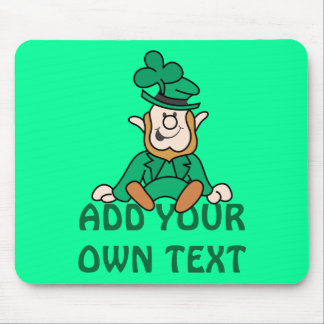 Little Leprechaun - Add Your Own Text Mouse Pad