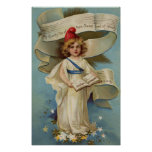 Little Liberty Girl Sings My Country 'Tis of Thee Poster