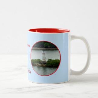 Little Lighthouse Custom Two-Tone Coffee Mug