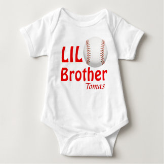 Little Lil Big Brother/Cousin/Sister Baseball Baby Bodysuit