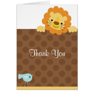Little Lion and Bird Note Cards
