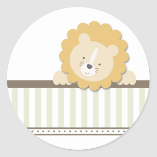 Little Lion {Green}   Stickers