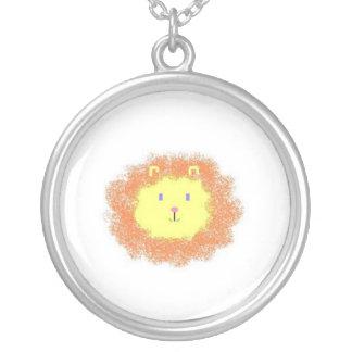 Little Lion Round Pendant Necklace