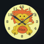 """&quot;Little Lion&quot; Personalized Wall Clock<br><div class=""""desc"""">A great accessory for the little guy&#39;s room or nursery.  Our Little Lion wall clock adds a personal touch,  and will be a treasured momento for your little lion for years to come.</div>"""
