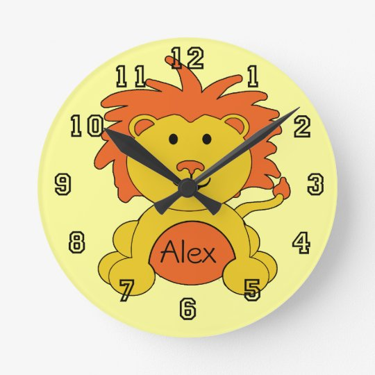 """""""Little Lion"""" Personalized Wall Clock"""