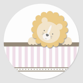 Little Lion {Pink}   Stickers
