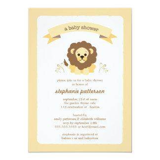 Little LIon Sweet Jungle Baby Shower Invitation