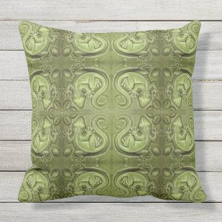 Little Lizard Vintage Tile Pillow