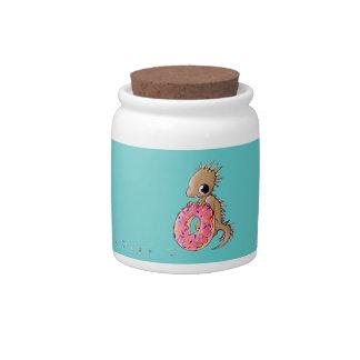 Little Lizard With Sprinkle Doughnut Jar