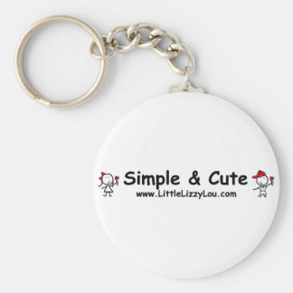 Little Lizzy Lou Basic Round Button Keychain