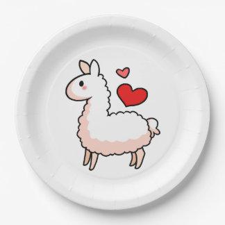 Little Llama 9 Inch Paper Plate