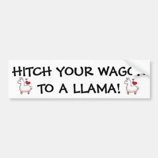Little Llama Car Bumper Sticker