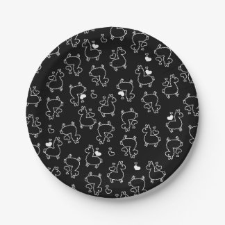 Little Llama Silhouette Madness 7 Inch Paper Plate