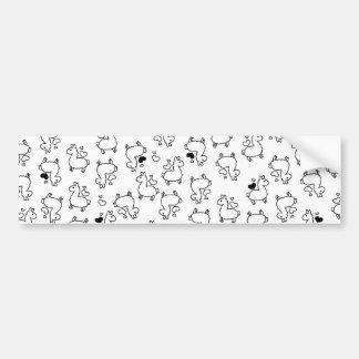 Little Llama Silhouette Madness Bumper Sticker
