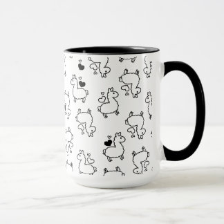 Little Llama Silhouette Madness Mug