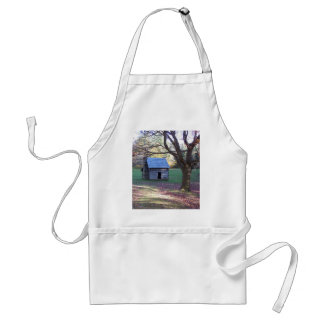 little log cabin adult apron