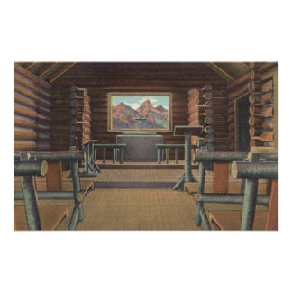 Little Log Church at Snake River View Poster