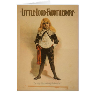 Little Lord Fauntleroy Card