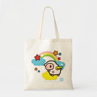 Little Lost Lamb Bright Cloud and Rainbow Tote Bag