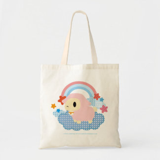 Little Lost Lamb Cloud and Rainbow pink and blue Budget Tote Bag
