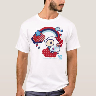 Little Lost Lamb Cloud and Rainbow red and blue T-Shirt
