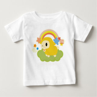 Little Lost Lamb Cloud and Rainbow yellow Baby T-Shirt