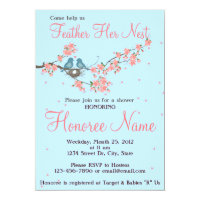Little Love Birds Shower Invitation