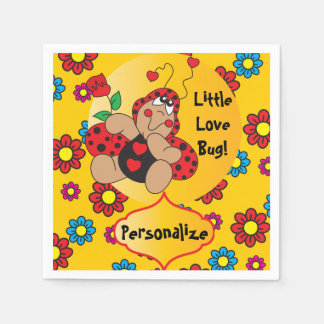 Little Love Bug Baby Shower Theme Paper Napkin
