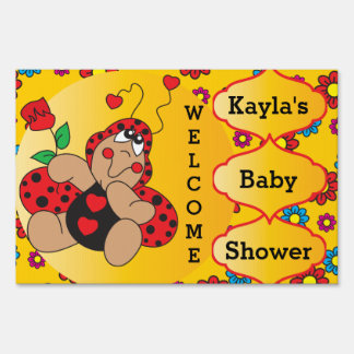 Little Love Bug Baby Shower Theme Yard Sign
