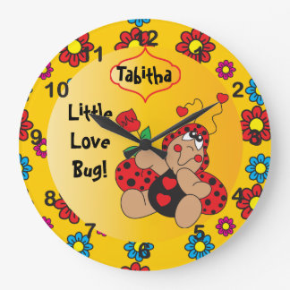 Little Love Bug Nursery Theme Large Clock