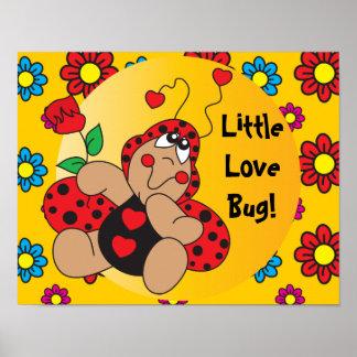 Little Love Bug Nursery Theme Poster