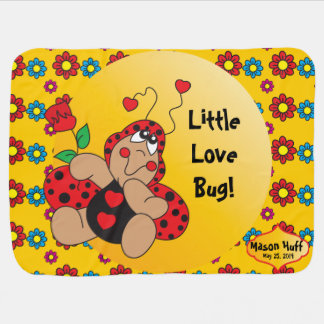 Little Love Bug Nursery Theme Swaddle Blanket