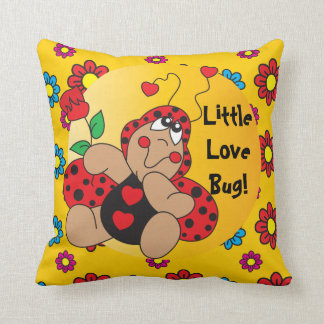 Little Love Bug Nursery Theme Throw Pillow