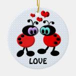 Little Love Bugs Ceramic Ornament