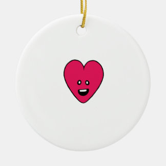 Little love heart healthbar cute design ceramic ornament