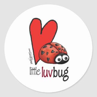Little Lovebug - First Valentine's Day Classic Round Sticker
