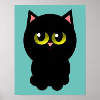 Little Lucky Black Cat Poster