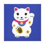 Little Lucky Cat Art Canvas