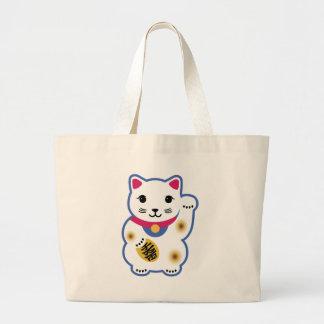 Little Lucky Cat, Maneki-neko ,招き猫 Canvas Bags