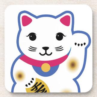 Little Lucky Cat, Maneki-neko ,招き猫 Beverage Coaster