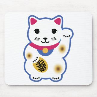 Little Lucky Cat, Maneki-neko ,招き猫 Mouse Pad